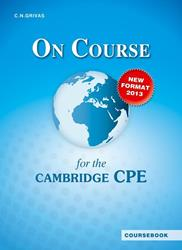 ON COURSE FOR THE CPE ST/BK 2013